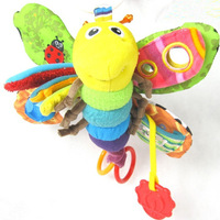 New Baby Stroller Soft Toy Shower Party Gift Plush Rattle Butterfly Firefly Educational Toys Drop Shipping