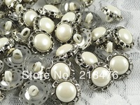 15mm 100/pcs Fancy Round Plastic Button sewing craft Overcoat Appliques
