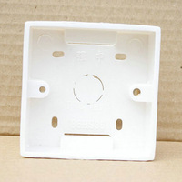 Wholesale Plastic Box Wall Mounting Box for Wall Switch Installed Inside the Wall 86mm Light Switch Box Free Shipping E02060219