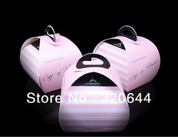 Wholesale 50pcs/lot Paper cake box ,paper cupcake box,Cupcake packaging Boxes,Cake Paper boxes,Cookie Decoration free shipping(China (Mainland))