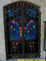 iron gate,  powder coated , hot dip galvanized steel , wrought iron swing gates JX-T2000