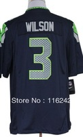 american football russell wilson jersey  wholesale free shipping mix order