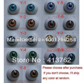 18 Pairs 14mm HALF ROUND ACRYLIC REBORN DOLL EYES for Reborn/BJD/OOAK Doll eyes