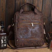 Top butter skin genuine leather man  handbag shoulder  male messenger  0993 bag