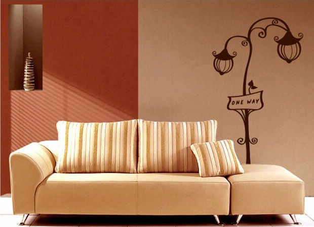 5sets/lot wholesale wall decor PVC decal DIY art home sticker vinyl KF188 street light 92*184cm(China (Mainland))