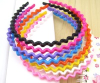 Wholesale 8piece Candy-colored Wavy Headband Hairwear
