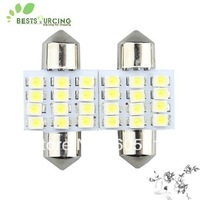 Free shiping + 10pcs 31mm 12 SMD 3528 LED White lights bulbs Festoon Dome DE3175 DE3021 DE3022