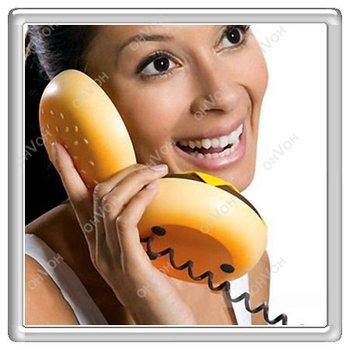 S5Y Geek Hamburger Cheeseburger Burger Telephone Home Desktop Corded Juno Phone