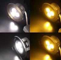 free shipping!!! 3W LED Ceiling Spotlight Lamp Bulb White/warm Light Adjustable Angle 85-260V