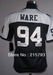 Cheap American Football Jersey 2012-13 Youth Game Dallas 94 DeMarcus Ware Thanksgiving Kids Jersey Size:S-XL Free Shipping(China (Mainland))