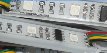 DC12V input  3pcs rgb smd5050 +1pcs WS2801IC 20pcs a string  pixel module