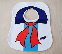 CL1510 Free shipping Unisex Cotton 3 Layers of  Waterproof  Bib, Sailor BABY BIB, Keeps Baby Clean During Meals, 2pcs / lot