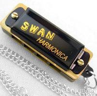 Brand new silver tone Swan Diatonic Harmonica Blues Harps 10 Hole Key D with plastic box Music christmas gift