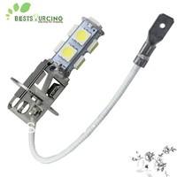 free shipping special offer 6pcs Car White LED 9 SMD 5050 Bulbs H3 Fog/ Daytime Light Lamp