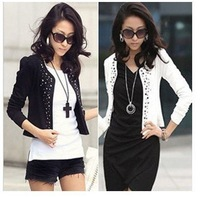2013 New Fashion Women's Long Sleeve Cotton Casual Shrug Outerwear Coats Jacket