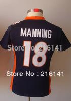 Free/Fast Shipping, #18 Peyton Manning Women's Game Alternate Navy Football Jerseys.Size:S,M,L,XL,XXL.Accept Drop Shipping.