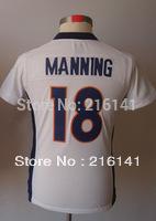Free/Fast Shipping, Sewn On #18 Peyton Manning Women's Game White Football Jerseys.Size:S,M,L,XL,XXL.Accept Drop Shipping.