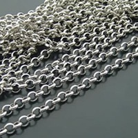 sterling silver chain 3.8mm silver plated chain 2 meters / lot free shipping