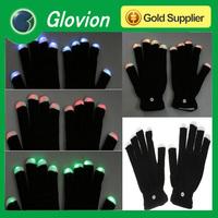 LED shinning magic gloves LED Gloves Light Finger Lighting Glow Flashing Gloves freeshipping, Dropshipping