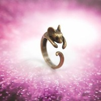 Min.order is $10 (mix order) 22A30  Korea beauty  women's  lovely  mouse ring wholesale free shipping