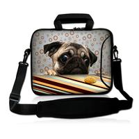 """Cute Pug 15"""" 15.4"""" 15.6"""" Netbook Laptop Shoulder Bag Sleeve Case For HP DELL ASUS Acer"""