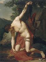 "Handicrafts Repro oil painting:""St. Sebastian aet"""