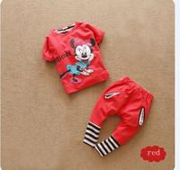 2013 Fashion Newest Design Baby Girl Sweet T-shirt + Pant 2Pcs Set,Cute Boys Girls Summer clothing Cartoon Minnie Soft Wear