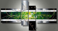 New ! Modern Handmade Abstract Huge Art Decor wall Canvas Oil Paintin +Free Gift(China (Mainland))