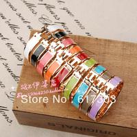 Hot sale accessories gold plated bracelet multicolour h bracelet