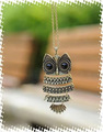 PDRN-002,Fashion Vintage Metal ( Bronze)Owl Necklace Jewelry Wholesale !Freeshippping