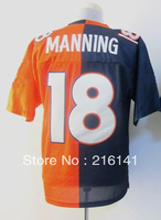 Free/Fast Shipping,Sewn On #18 Peyton Manning Orange-Blue Elite Two Tone Jerseys,Size 40,44,48,52,56.Accept Drop Shipping.