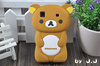 3D Rilakkuma Bear Silicone Skin Case For Samsung i9000 Galaxy S 1PCS/LOT