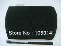3 x Black Soft Case Cover Protective Pouch Bag For Nintendo 3DS XL Free Shipping