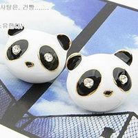 E237045 lovely panda earrings stud earrings jewelry 12pair/lot free shipping