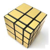 shengshou  magic cube mirror 3-layer magic cube 3x3x3 toys-golden version