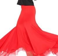 Plain Color lady ballroom dancewear high quality women Tango perform costume Adult Waltz competition dress Party skirt mix size