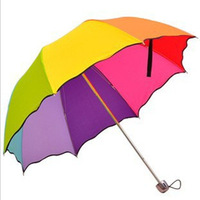 Free shipping! Folding princess umbrella ruffle structurein rainbow umbrella water apollo umbrella