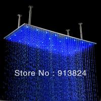 40*80 cm rectangle led lighting raining bathroom Rain Shower