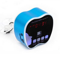 New Mini  Portable  Speaker hx738  With Screen Led light For iphone4,4s,ipod .PC. Support TF,USB Audio Line in,Nice Gift