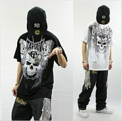 ufc cotton wholesale new hip hop dance tops skull men t shirts clothing style trending products big mens high fashion(China (Mainland))