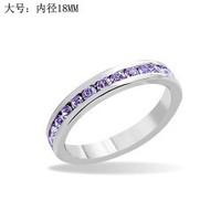33 white full rhinestone finger ring lovers ring - -