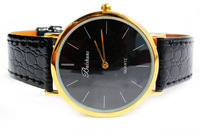 F03938-4 New Fashion Leisure Classic Ultra Thin Leather strap Quartz Watch Wrist Watch for Men Male +free shipping