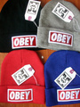OBEY  Beanie hat ,wool winter knitted caps and hats for man and women, 4 color to select +free shipping(China (Mainland))