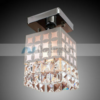 Freeshipping 1 Light Crystal Ceiling Light in Cubic Shade for Bedroom, Kids Room in Modern/Comtemporary style