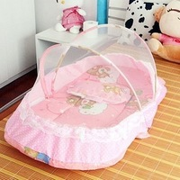Free Shipping! Laciness baby mosquito net bed portable folding mattress baby mosquito net with pillow zipper child bed -hb