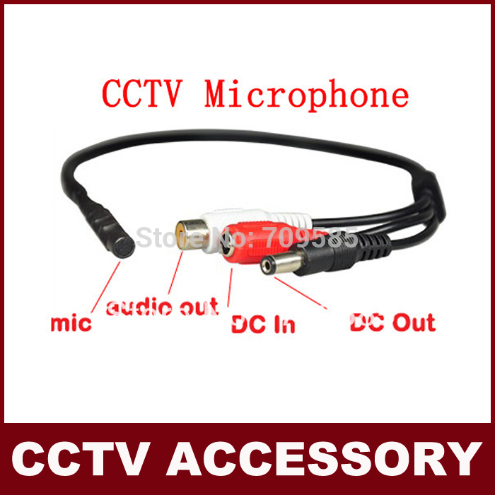 Mini CCTV Wide Range Microphone for Security Camera Audio Surveillance DVR Free Shipping(China (Mainland))