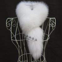 Fur  women's fox fur scarf muffler scarf fur collar sub thermal scarf white