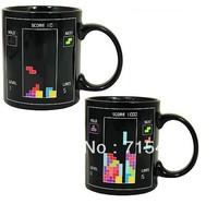 12pc/lot Free shipping 10 oz Tetris The Heat Change Mug Perfect Gift for Tetris fans