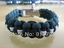 Panda Paracord 6--9 inch survival bracelet with adjustable shackle(China (Mainland))