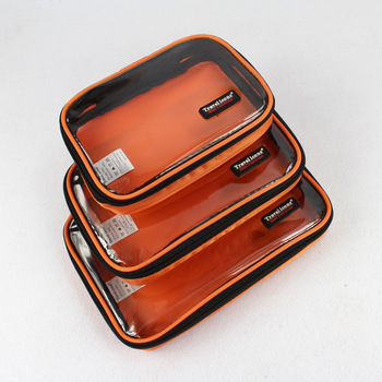 Travel kit multifunctional 3pcs /set storage bag  transparent wash bag combination set